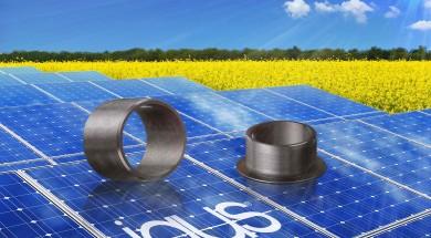 Solar panels in rape field