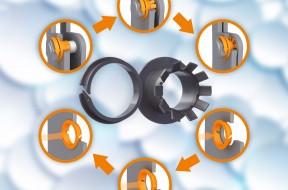 Buchas flangeadas e de clipe iglidur K230 são livres de lubrificantes e de rápida instalação